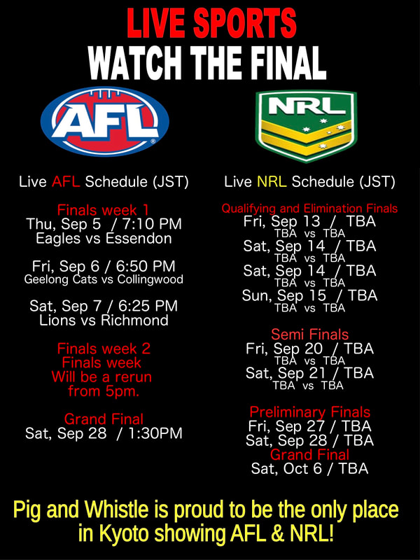 AFL and NRL Finals Schedule